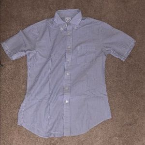Striped button down t-shirt